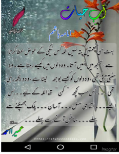 Aab e Hayat Novel | Novel Lines in Urdu